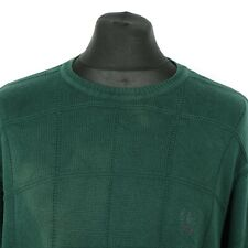 Vintage IZOD Cotton Jumper   Sweater Top Pullover Knit Retro Patterned Thick