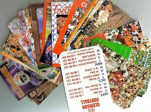 CLEMSON TIGERS FOOTBALL SCHEDULES 1975-2019 (50 DIFFERENT