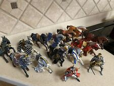 New ListingLot of 12 Schleich Papo Horses & 2 Knights Action Figurines