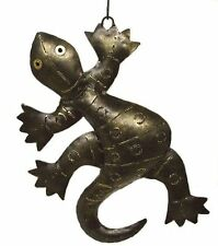 Windlicht Gecko Laterne Teelichthalter Kerzenständer Gekko Geckos Eidechse Deko