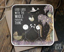 Christening Baby Good Luck Card Parenting Congratulations Friend Brother Sister