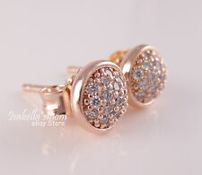 DAZZLING DROPLETS Genuine PANDORA Rose GOLD Plated/PAVE Earring STUDS 280726CZ