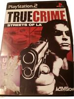True Crime Streets Of LA ,Sony Playstation 2 PS2, Case & Manuel