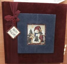 Christmas Scrapbook Festive Shadowbox Cover With Thoughts Quotes Inside UNUSED