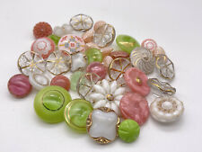 More details for vintage shabby chic glass buttons