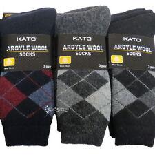 Wool Blend Argyle, Diamond Multipack Socks for Men