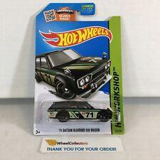 '71 Datsun Bluebird 510 Wagon #202 * BLACK Kmart Only * 2015 Hot Wheels * NA32