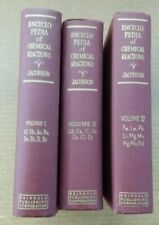 3 book lot of Encyclopedia of Chemical Reactions C.A. Jacobson Volumes 1 2 4