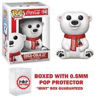 "Pre-order Funko Pop Ad Icons : Coca-Cola Polar Bear #58 Vinyl ""MINT"""