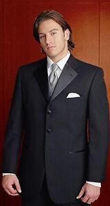 "68S Mens Brand New Black After Six ""Prado"" 3 Button Tuxedo Jacket Prom Wedding"