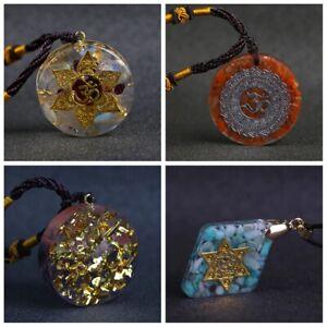 Sri Yantra Quantum Pendant Solar Energy Chakra Pendant Necklace Natural Crystal