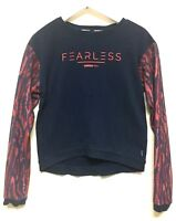Adidas Neo Women's XS FEARLESS Long Sleeve Shirt Pullover Scoop Neck