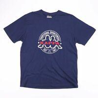 Vintage KAPPA Navy Blue Traditional Sportswear Big Logo T-Shirt Size Men's Large