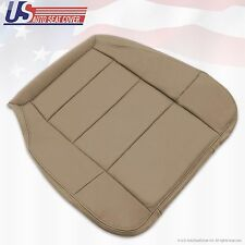 2003 Ford F-150 Lariat Super Crew Driver Bottom Leather Seat Cover-Parchment Tan