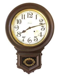 ANTIQUE ANSONIA 8 DAY AMERICAN SCHOOL / RAILWAY DROP WALL CLOCK