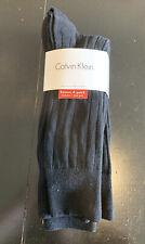 Calvin Klein Combed Cotton Men's Dress Socks 4 Pack Black