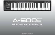 ROLAND A-500S MIDI KEYBOARD CONTROLLER OWNER'S MANUAL PRINTED IN ENGLISH