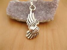 925 Sterling Silver - Lovely Wings Pendant with 3 x CZ Clear Studs Jewellery