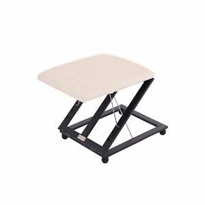 NEW! Adjustable Folding Cushion Padded Footstool Foot Leg Rest