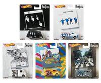 Hot Wheels 2019 Pop Culture The Beatles, 1/64 Diecast Cars, Set of 5 DLB45-946C