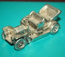 925 Silver plated vintage collectable old car Paperweight Sculpture