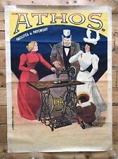 More details for original 1902 advertising poster athos sewing machine art nouveau