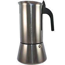 Bialetti Espressobereiter Venus, 10 Tassen, Edelstahl, Herd Espressokocher