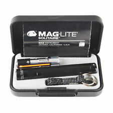 Black Maglite AAA Torch Gift Boxed with AAA Battery Solitaire Keychain Torch