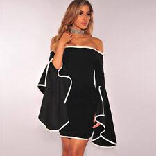 Design Women Dress Short Mini Evening Party Fashion Summer Sexy One Shoulder YI