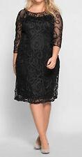 Sheego schönes Kleid Eventkleid Abendkleid Gr. 40 bis 58 schwarz Spitze (250)