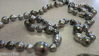 Estate Baroque South Sea Black Pearl Necklace 36 inches Pearls up to 14.5 mm