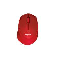 Logitech M331 SILENT PLUS Wireless Mouse with Nano Receiver Red Color