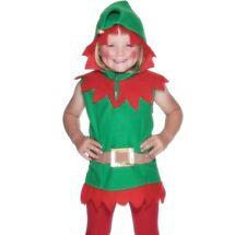 vestito natale bambini bambini elfo Costume #26019 Nuovo Da Smiffys