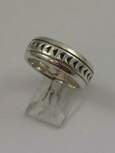 TIFFANY AND CO PALOMA PICASSO COLLECTION SILVER PATTERNED RING