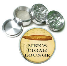 Mens Cigar Lounge Rs1 Themed Aluminum Herb Grinder 63mm 4 Piece Hand Mueller