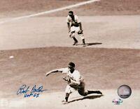 "Bob Feller Signed 8X10 Photo ""HOF 62"" Autograph Indians Horizontal Field COA"
