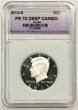 2012-S Silver Kennedy Half Dollar PR70 APCG Proof 70 Deep Cameo 70