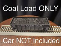 HO Scale Coal Load For Athearn 34' 2-bay Hopper Cars 2 LOADS PER PURCHASE