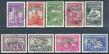 Echte gestempelte Briefmarken aus deutschen Besetzungsgebieten im 2. Weltkrieg