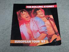 THE ROLLING STONES European Tour 1982 TOUR PROGRAMME!