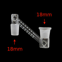 18mm Male to 18mm Female Side Extender Glass Adapter Drop Down