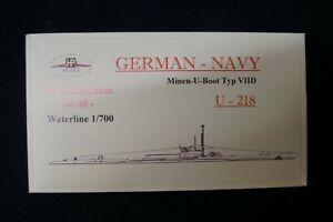 HP Models 1:700  WL  Minen-U-Boot  Typ VIID    U-218 -1941/45-