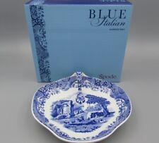 Spode China ITALIAN Blue Handled Tray / Relish - New In Box
