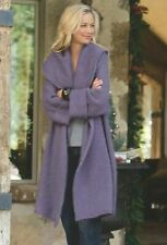 NWT Soft Surroundings Mohair Telluride Topper Long Cardigan Sweater Lavender XL