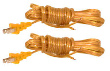 Royal Designs Lamp Cord with Molded Plug – Clear Gold – 8 feet SPT-2 – Set of 2