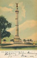 WEST POINT NY – Battle Monument Glitter Covered Rotograph Postcard – udb – 1906