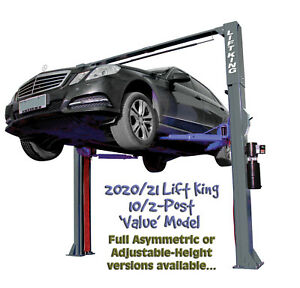 Lift King 10/2-Post Clearfloor Car Hoist / Service Lift / FULL Asymmetric Design
