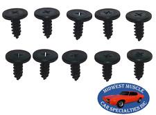 NOSR Chrysler Convertible Roof Soft Top Boot Well Window Trim Rail Screws 10pcs