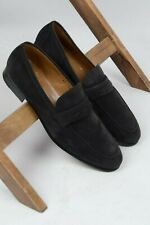 NEW Gravati suede penny loafers gray size UK 11.5 (EU 46.5) US 12