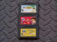 Lot Nintendo Game Boy Advance GBA Games Dora the Explorer: 3 Titles